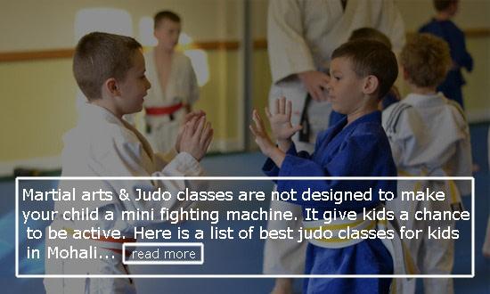 Judo Classes for kids in Mohali