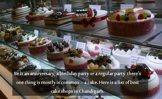 Best Cake shops in Chandigarh