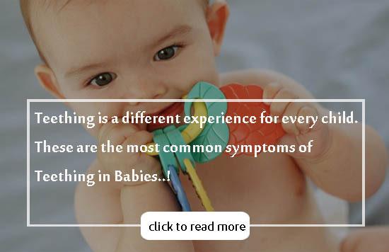 Common Symptoms of Teething in Babies