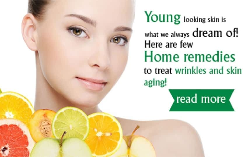 Home remedies to treat wrinkles and skin ageing